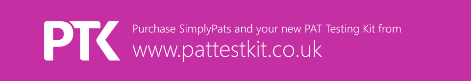 Purchase SimplyPats software and your new PAT Testing Kit from our New Website www.pattestkit.co.uk