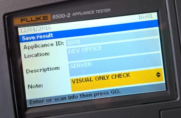 Saving PAT Test results on the Fluke 6500-2