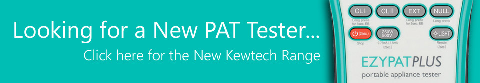 Purchase Kewtech EZYPAT, EZYPAT PLUS and SMARTPAT PAT Testers with or without bundled SimplyPats V7 Manual Plus Edition Software
